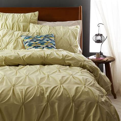 west elm bedding organic cotton pintuck duvet cover shams west elm