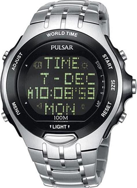 s watches pulsar by seiko digital world time alarm