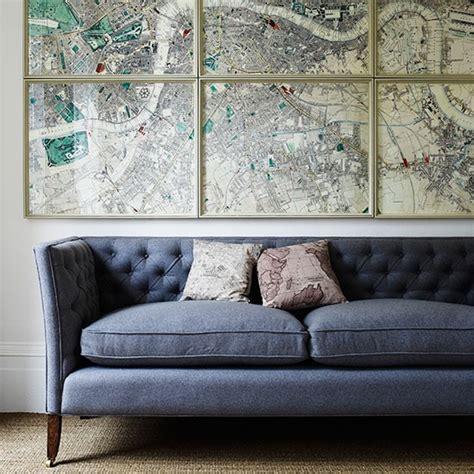 living room directions living room with framed maps housetohome co uk