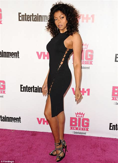 taraji p henson black dress cut out honoree taraji p henson sizzles in daring slit black