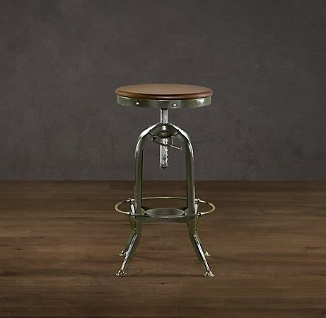 Kitchen Island Or Table Vintage Toledo Barstool Antiqued Green From Kitchen To