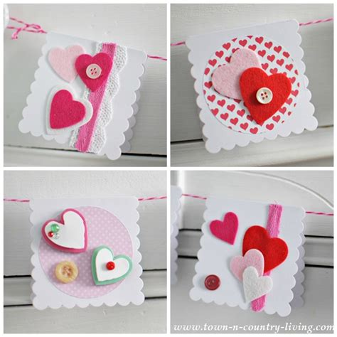 Handmade Valentines - s day cards town country living