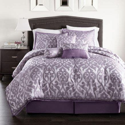 Plum Colored Comforters Purple Bedding Westland Home Angelina 7 Piece