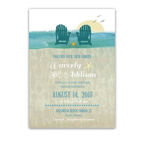 Casual Wedding Invitation Paper by Casual Chairs Destination Wedding Invitations