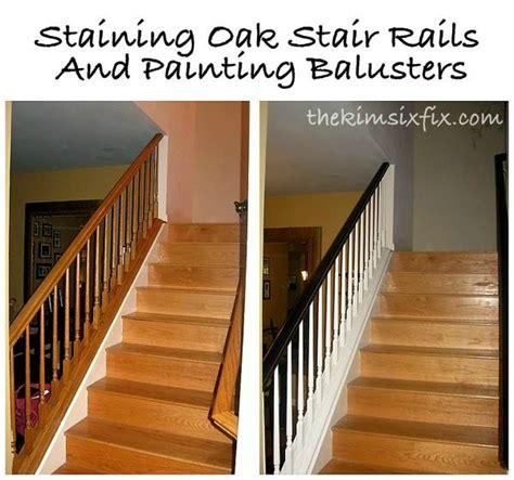 How To Stain Banister For Stairs by Staining And Painting An Oak Banister Flashback Friday
