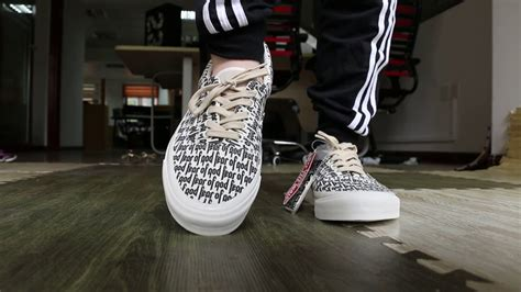 Vans Authentic Fear Of God authentic vans fear of god on foot hd review by gogoyeezy ru