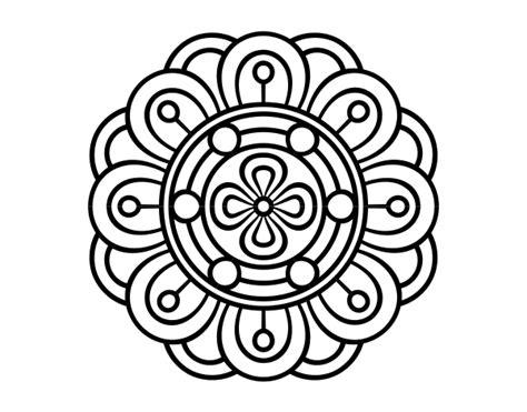 imagenes de mandalas de la naturaleza dibujo de mandala flor creativa para colorear dibujos net