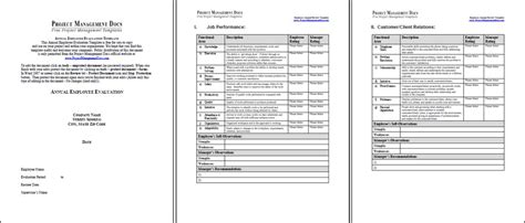 yearly employee review template employee annual review template project management docs