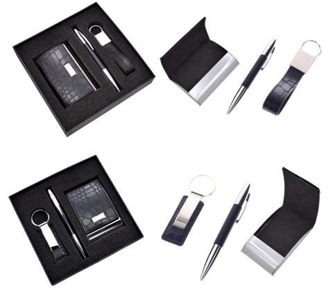 Business Giveaway Ideas - unique business ideas giveaways pu leather card holder key chain pen office premium