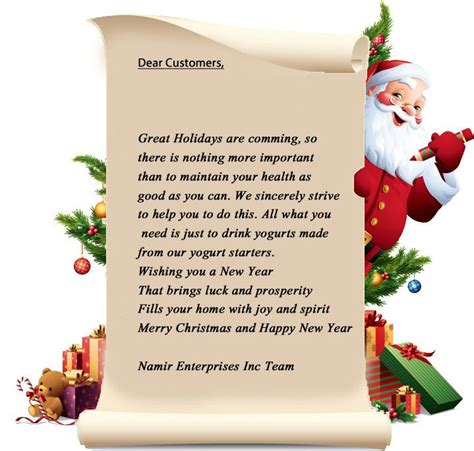 printable letters merry christmas letter from santa on be half of coming holidays http