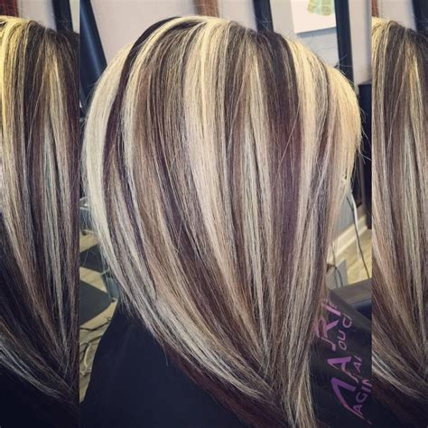 highlight color high contrast highlight and lowlights hair colors ideas