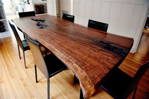 Live Table by Live Edge Claro Walnut Slab Dining Table