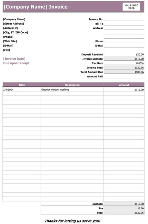 invoice template sle sle invoice template cyberuse 28 images carpet