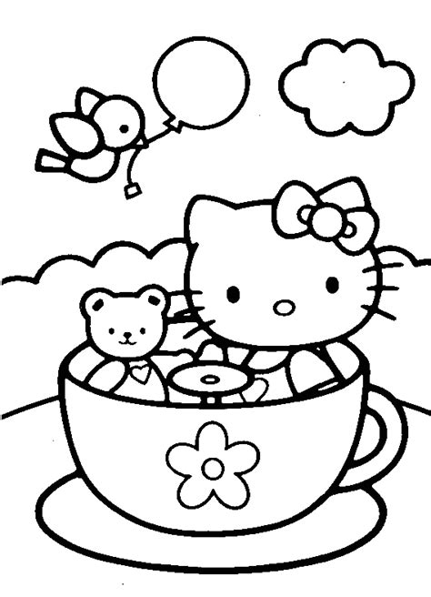 coloring page for hello kitty hello kitty coloring pages coloring pages to print