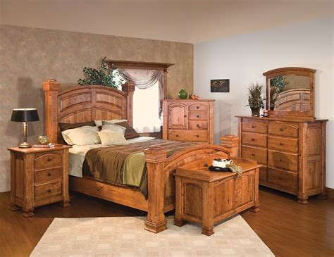 Size Bedroom Sets by Luxury Amish Rustic Cherry Bedroom Set Solid Wood