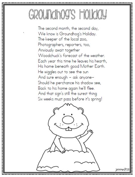 groundhog day poem mrs brinkman s groundhog day 2015