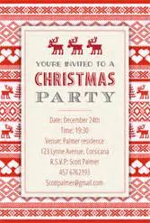 sweaters pattern free printable christmas invitation
