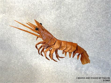 Shrimp Origami - beautiful exles of origami paper hongkiat
