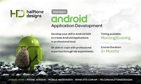 online tutorial for android application development halftone designs announced android app development