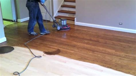 R And R Flooring by Staining Hardwood Floor In Naperville