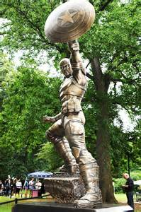 captain america statue unveiled in