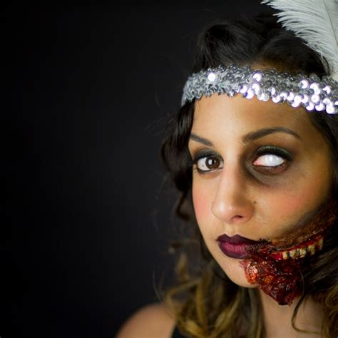 zombie flapper tutorial zombie flapper makeup tutorial saubhaya makeup