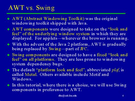 awt and swing awt vs swing