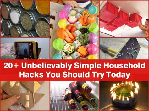 household hacks 20 unbelievably simple household hacks you should try today