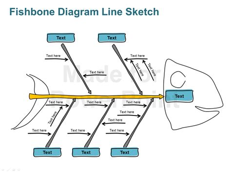 ishikawa template powerpoint fishbone diagram line sketch editable powerpoint ppt