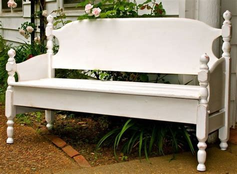 bed into bench recycled bed garden bench recycled furniture pinterest