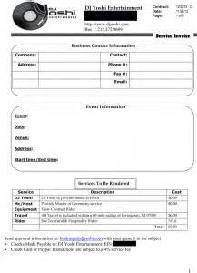 dj tech rider template dj contract agreement free printable documents