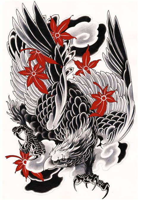 free japanese tattoo designs to print japanese eagle print exclusive design black and by