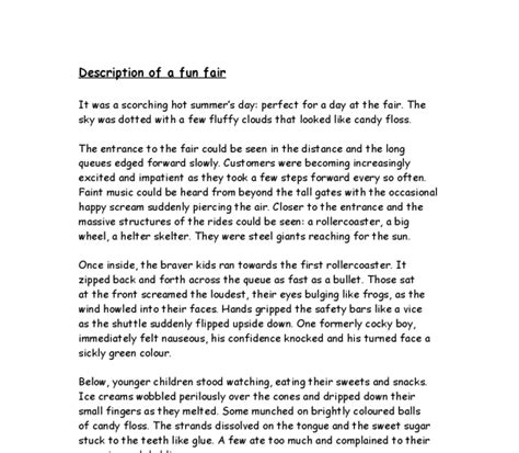 sle descriptive essay descriptive essay about a place sle 28 images