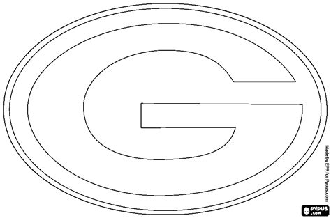nfl coloring pages green bay nfl team logos coloring pages getcoloringpages com