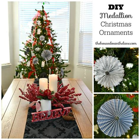 making christmas decorations at home diy medallion christmas ornaments calyx corolla