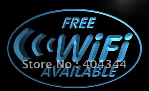 Sign Led Free Wifi Pink 1 lb571 free wi fi access cafe led neon light sign