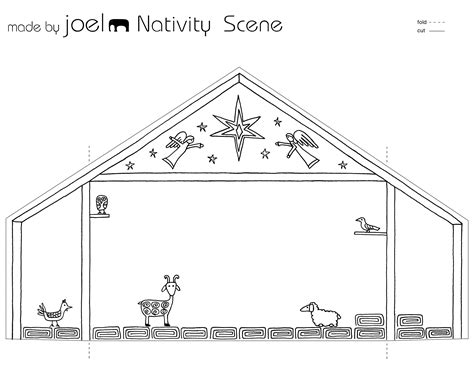 printable paper nativity scene made by joel 187 made by joel paper city nativity scene