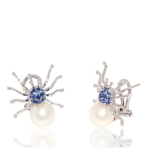 Set Spider Blue 45 best pearl earrings images on pearl drop earrings pearl earrings and pearl studs