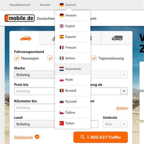 auto mobili de mobile de in het nederlands auto importeren duitsland