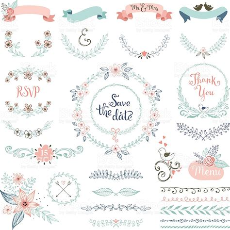 Wedding Clipart Design by Rustic Wedding Design Set Stock Vector More Images