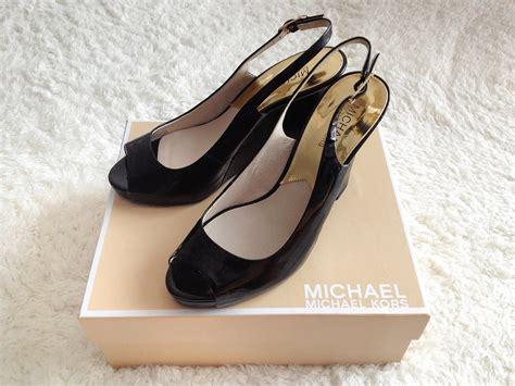 Sandal Wanita Wedges Original Black michael kors kacie black patent wedge sandals 183 lovette 183 store powered by storenvy
