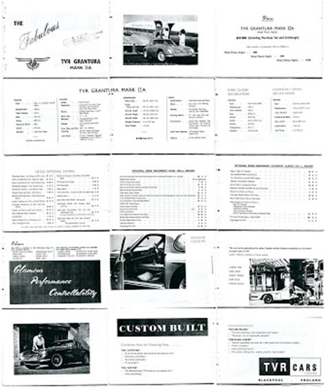 Tvr Price List The Driving Philosopher Tvr Grantura Brochure And Price