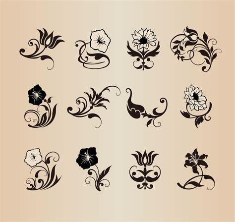 design elements flower shop floral flower vector design elements free vector