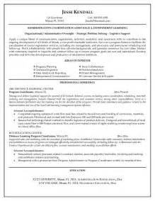 free distance learning program coordinator resume example