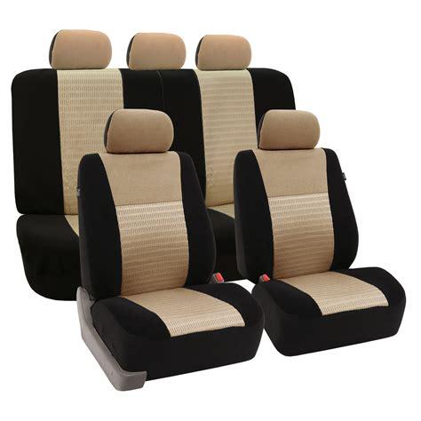 3 row 3d air mesh suv seat covers air bag split bench