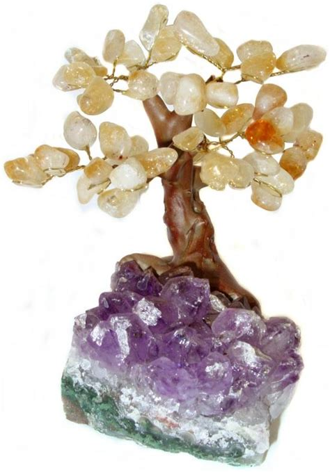 29 95 bonsai citrine gemstone tree l free us ship