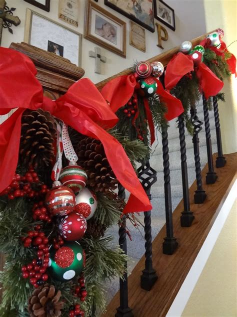 10 christmas stairs decoration ideas decorate your