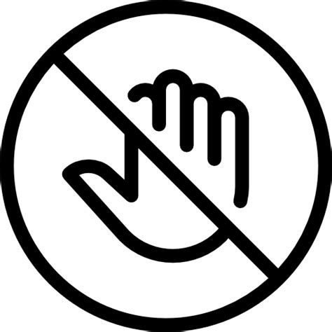 No Touching no touch free signaling icons