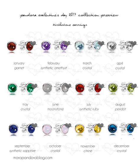 pandora birthstone pandora s day 2017 collection preview mora pandora