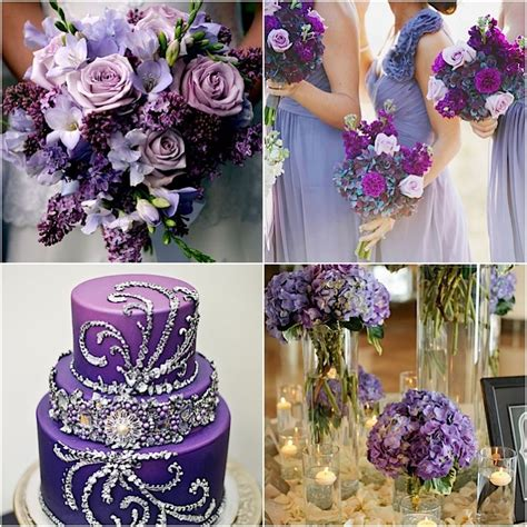 purple wedding ideas with pretty details modwedding